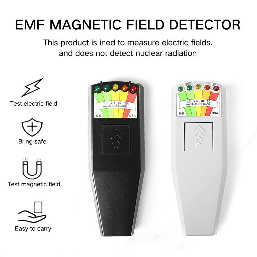 New LED EMF Meter Magnetic Field Detector Hunting Paranormal Equipment Tool Blk