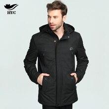 HYC Parka Men Coats Windbreaker Winter Jacket Coat Male Top Outerwear Cotton Padded Snow Wear Trench Coat Parkas Fashion 5006