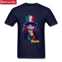 Classic Band T Shirts Slash Mens Short Sleeve 100 Cotton Round Neck Guns N Roses Band