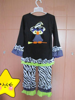 Popular Baby Clothing Sets Autumn Girl Ruffle Girls Persnickety Fall Halloween Clothing Sets