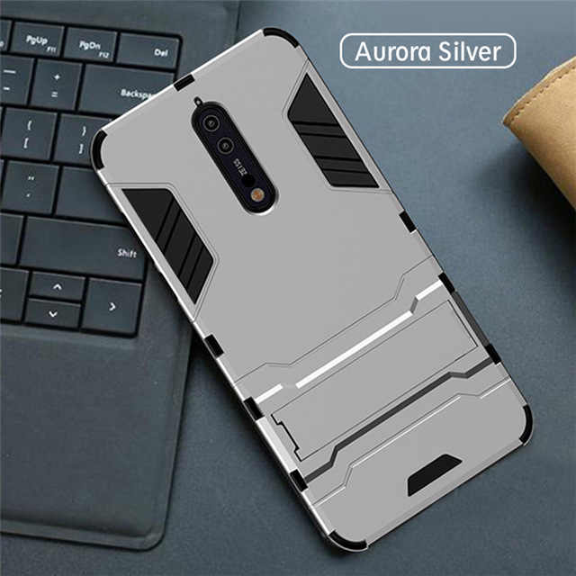Tipis Hibrida Hard PC TPU Shell Stand Shockproof Cover untuk Nokia 1 2 3 5 6 2018 8 7 7.1 plus X5 X6 X7 2.1 8.1 Armor Case