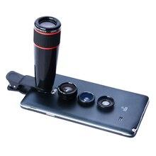 Promo offer APEXEL Telephoto Telescope Optical Zoom Lens+ Wide Angle & Macro+ Fisheye Lens Camera Lens Kit for iPhone5s 7 6s Plus Samsung12X