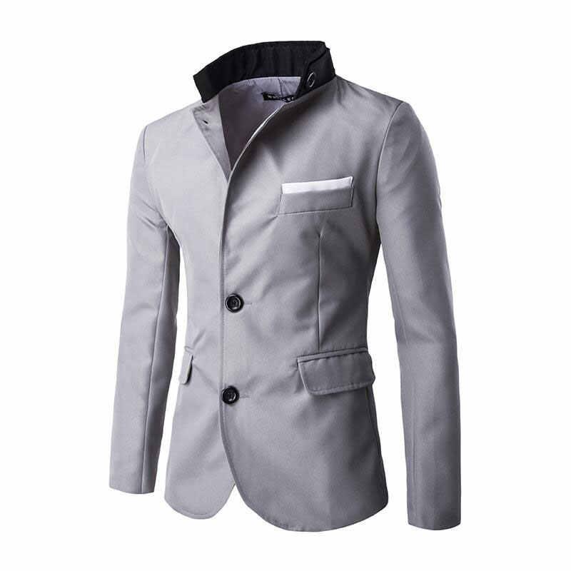 0cbcdd7fffb Blazer Men 2019 New Arrival Clothes Listing Fashion Style Top Brand Design  Suit Terno Casual Slim