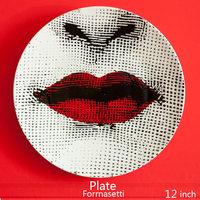 12 Inch Creative Design Pattern Italy Milan Rosenthal Piero Fornasetti Plates Ceramics Wall Hanging Decorative Plates