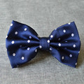 Navy Blue Silk Polka Dots Men Bow Tie Dot Printed Bowtie for Bridegroom Gravata  9 Colors 12*7cm  10pcs/lot