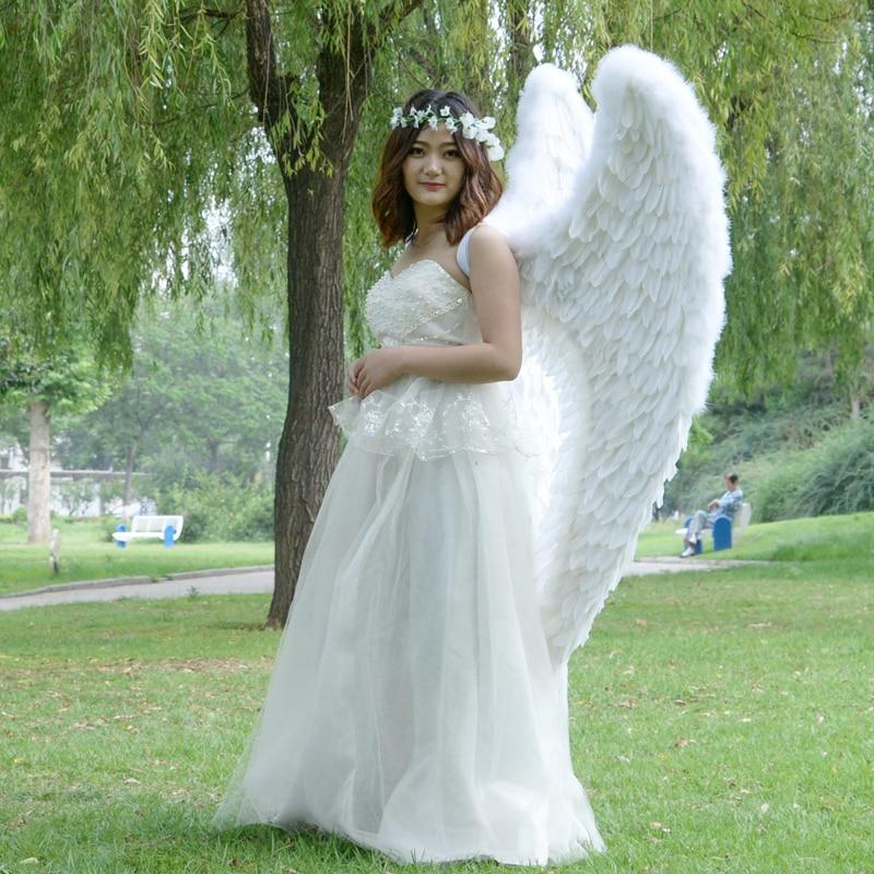 Heigth 160 cm ailes d'angle plumes blanches ailes en forme de coeur, scène de défilé Cosplay Performance film accessoires danse fête cadeau a1980