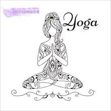 DCTAL Yoga Mdchen Zitate Namaste Wandtattoo Hinduismus Wandaufkleber Wohnzimmer DIY Wohnkultur Lotus Dekoration