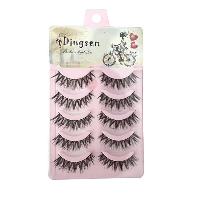 f37b919699d Best Sale 5 Pairs Natural Soft Eye Lashes Makeup Handmade Thick Fake False  Eyelashes Crisscross Beauty