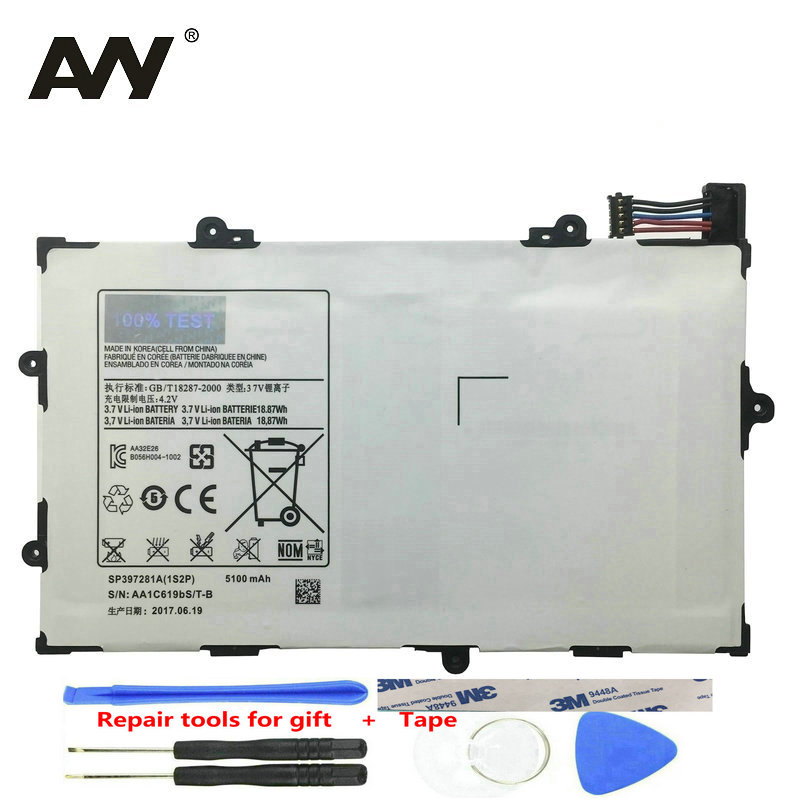 <font><b>5100mAh</b></font> SP397281A 1S2P Built-in Battery For Samsung GALAXY Tab 7.7 P6800 P6810 GT-P6800 GT-P6810 Tablet Replacement Batteries image