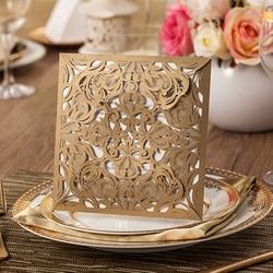 1lot sample gold white black laser cut rose flora wedding invitations card elegant lace envelopes seals.jpg 250x250