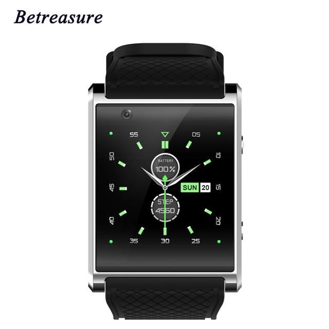 Betreasure Bluetooth 3 г Wi-Fi умные часы Android 5.1 SOS Камера 2.0 1.54 inch sim-карты GPS SmartWatch для IOS телефона Android