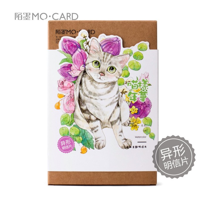 30pcs/lot Cute Cartoon Cat Kittens Cartoon Animals Kawaii Cartoon Postcards Cute DIY Envelop Gift Card Creative Bookmark