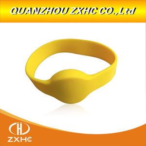 Image 4 - 13.56Mhz MF1108 (S50 Compatible) ISO14443A RFID Waterproof Smart Silicone Wristband Bracelet