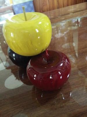 Bois de santal rouge pomme ornements maison accessoires artisanat chanceux en bois artisanat créatif cadeau d'anniversaire avec boîte-cadeau - 6