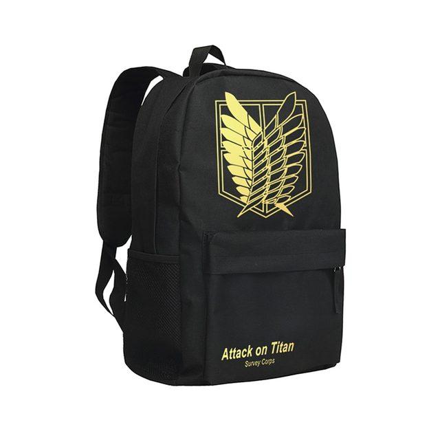Online Shop Zshop Cool Backpacks for Teenage Boys Attack on Titan ...