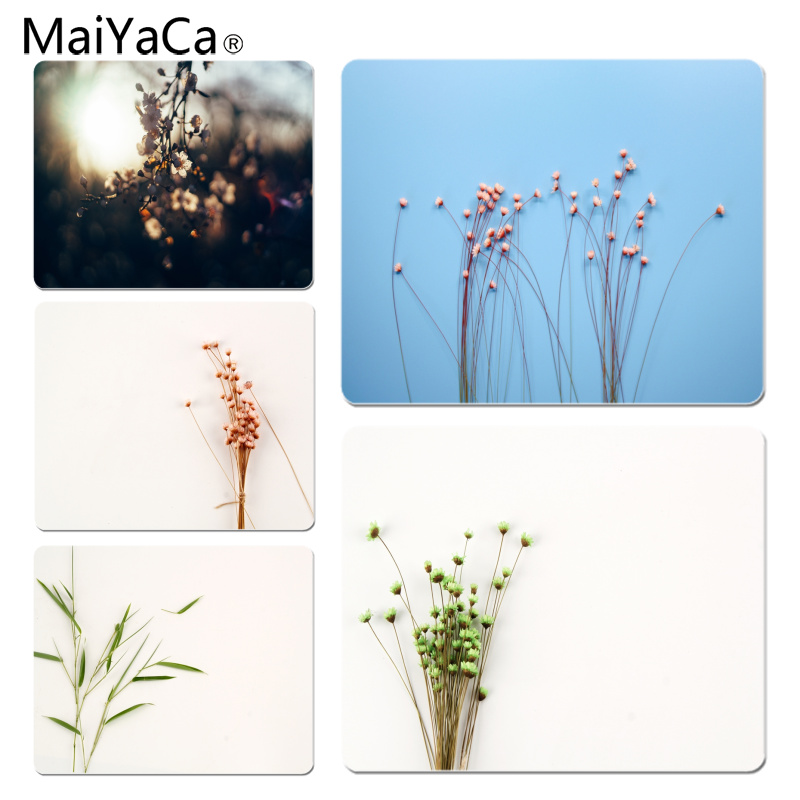 MaiYaCa Custom Skin Colorful small floral Customized laptop Gaming mouse pad Size for 18x22cm 25x29cm Rubber Rectangle Mousemats