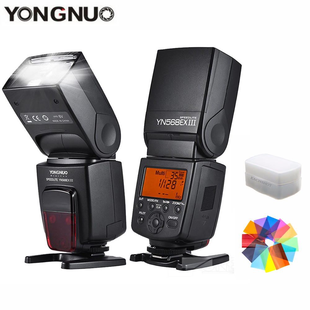 YONGNUO YN568EX III TTL Photo Flash Light High-speed Sync Wireless Speedlite for Canon 1100d 650d 600d 700d DSLR CameraYONGNUO YN568EX III TTL Photo Flash Light High-speed Sync Wireless Speedlite for Canon 1100d 650d 600d 700d DSLR Camera