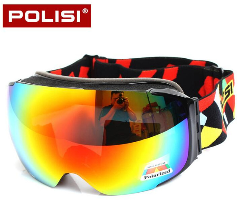 цена на POLISI Winter Skiing Snowboard Eyewear Replaceable 2 Lenses Anti-Fog Goggles Men Women UV400 Snowmobile Ski Skate Snow Glasses