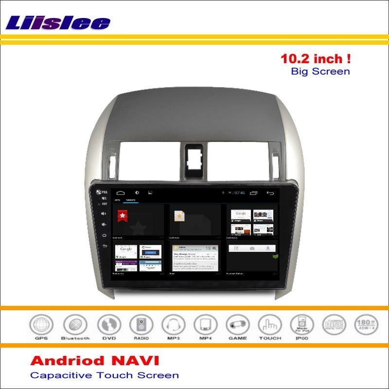 Perfect Liisle Android GPS NAV NVAI Navigation System For Toyota Corolla 2007~2013 Radio Stereo Audio Video Multimedia ( No DVD Player 4