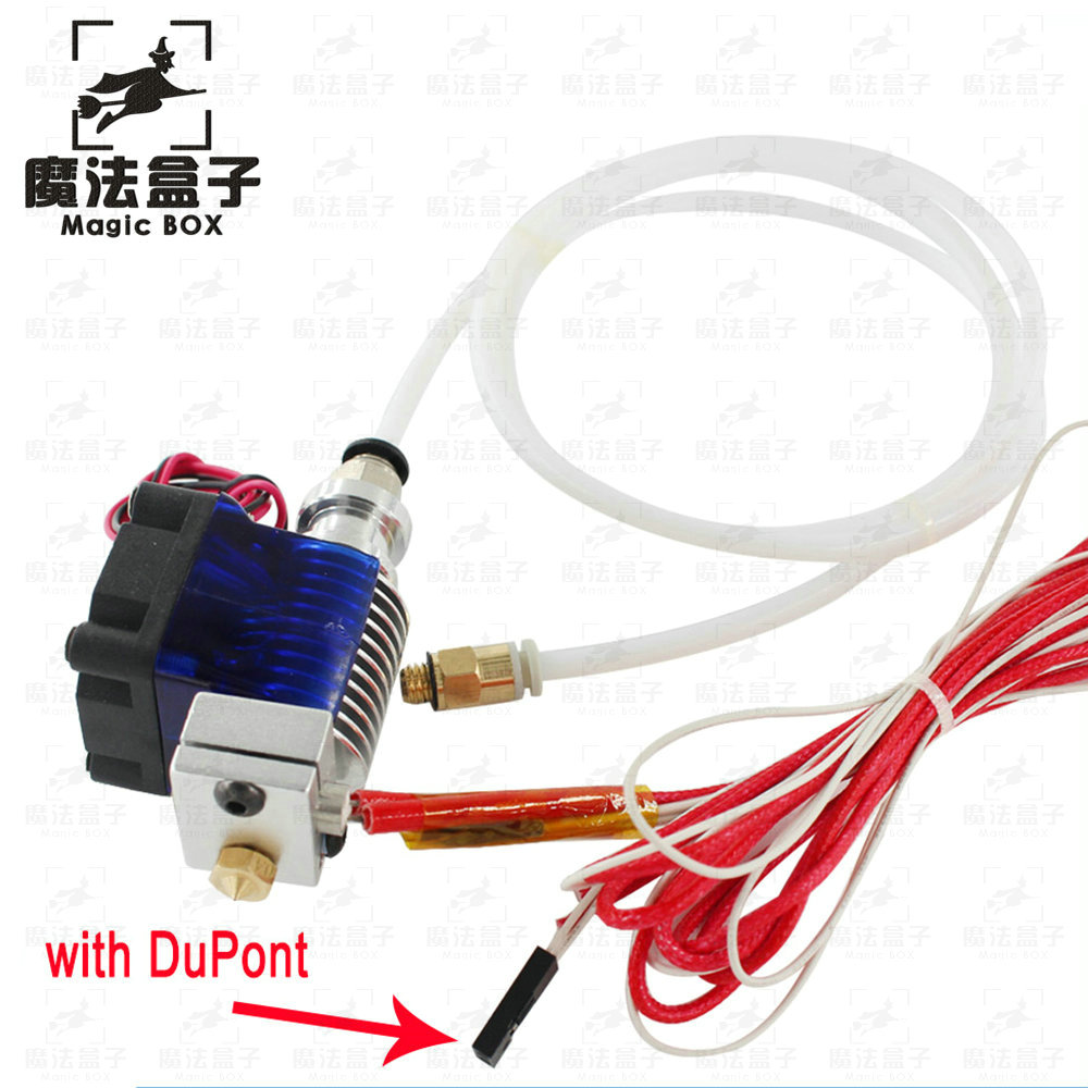 3D Printer 1.75//3.0mm Hotend for Volcano Remote Bowden J-head with 1m PTFE tube