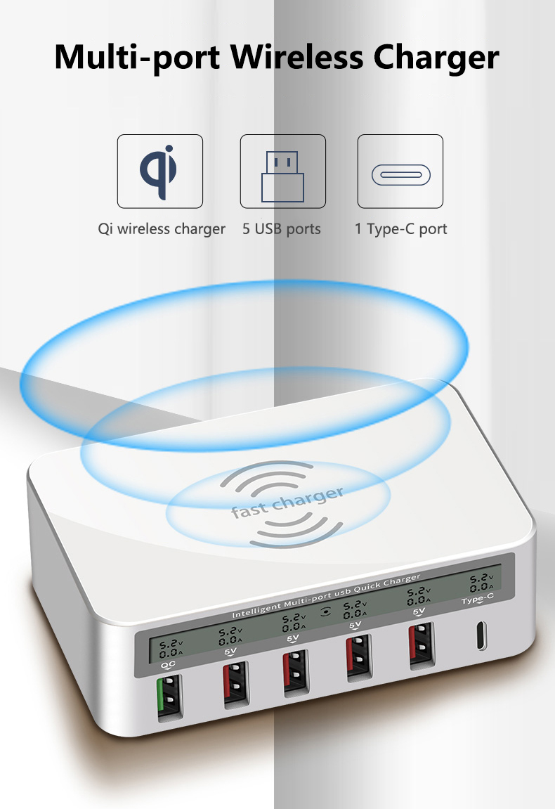 QI Wireless Fast Charger Quick Charge 3.0 USB Type C Charger (1)