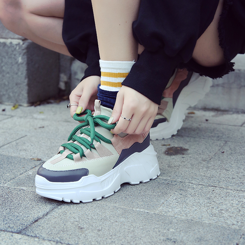 YRRFUOT Fashion Women Vulcanized Shoes T
