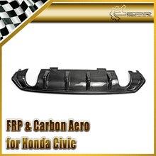 ЭПР Стайлинга Автомобилей Для Honda 10th Поколения Civic ФК Углеродного Волокна СМ-Стиль Задний Диффузор