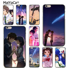 b4c924738 MaiYaCa Anime Your Name Kimi no Na wa Fashion Luxury cover phone Case for  Apple iPhone 8 7 6 6S Plus X 5 5S SE 5C case shell