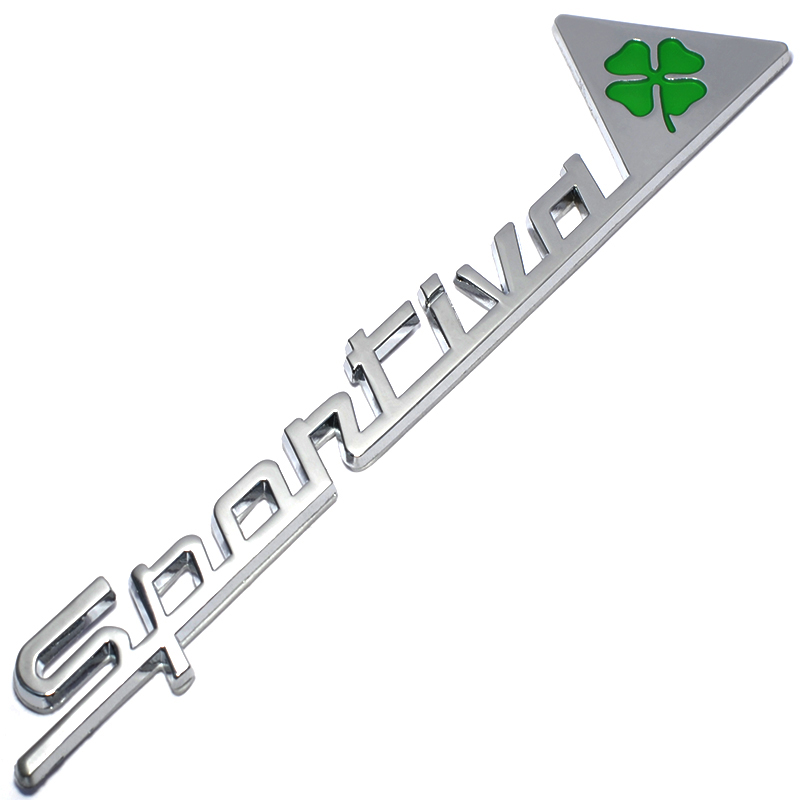 Metal Sportiva Quatrefoil Green Delta Car Side Fender Emblem Badge Sticker for Alfa Romeo 4C 8C 156 166 159 Giulietta Spider GT 10x car wheel snow chains for mini cooper r56 r50 r53 f56 f55 r60 r57 for alfa romeo 159 147 156 166 gt mito accessories
