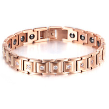 Titanium  Letter shape power energy health bracelet 4 in 1 magnetic germanium healthy for women