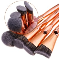 DE LANCI 4 Piece Luxury Rose Gold Makeup Brushes Tools Foundation Powder Makeup Brush Set Beauty