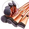 DE'LANCI 4 Unidades de Lujo de Oro Rosa Polvo de la Fundación Brochas de Herramientas de Cepillo Del Maquillaje Kits de Belleza Pincel Regalo para Las Mujeres