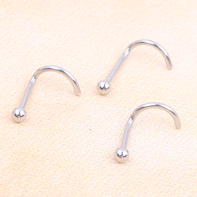 Silver Nose Rings Ball...
