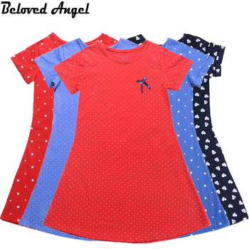 Beloved Angel New 5 Style Baby Girls Dress 1-13Yrs Children Girl Summer Dresses 100% Cotton High Quality Kids Vintage Clothing
