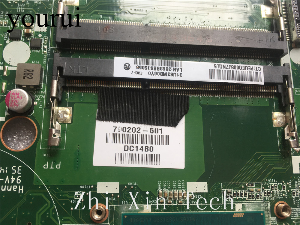 YOUKITTY Four sourare for HP 15-N 15-F Laptop Motherboard I3-4030U CPU 790202-501 DA0U83MB6E0 Mainboard Test Good