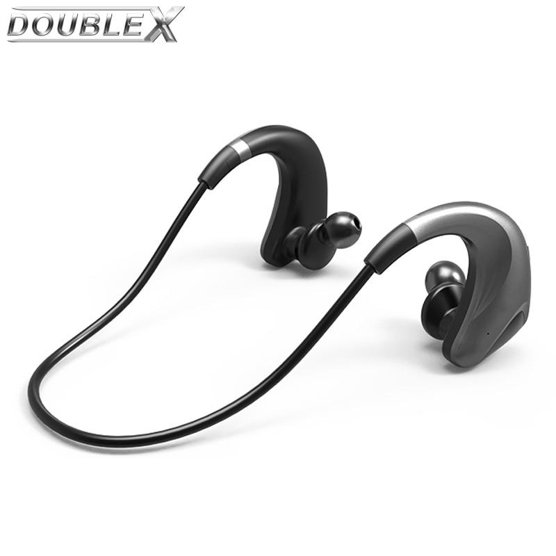 DOUBLEX TZ-16 IPX5 Waterproof Bluetooth Headset Headphones Wireless Headphone Microphone AptX Sport Earphone for iPhone Android bluedio ht 4 1 bluetooth headset headphones wireless headphone with microphone sport earphone for iphone android phone