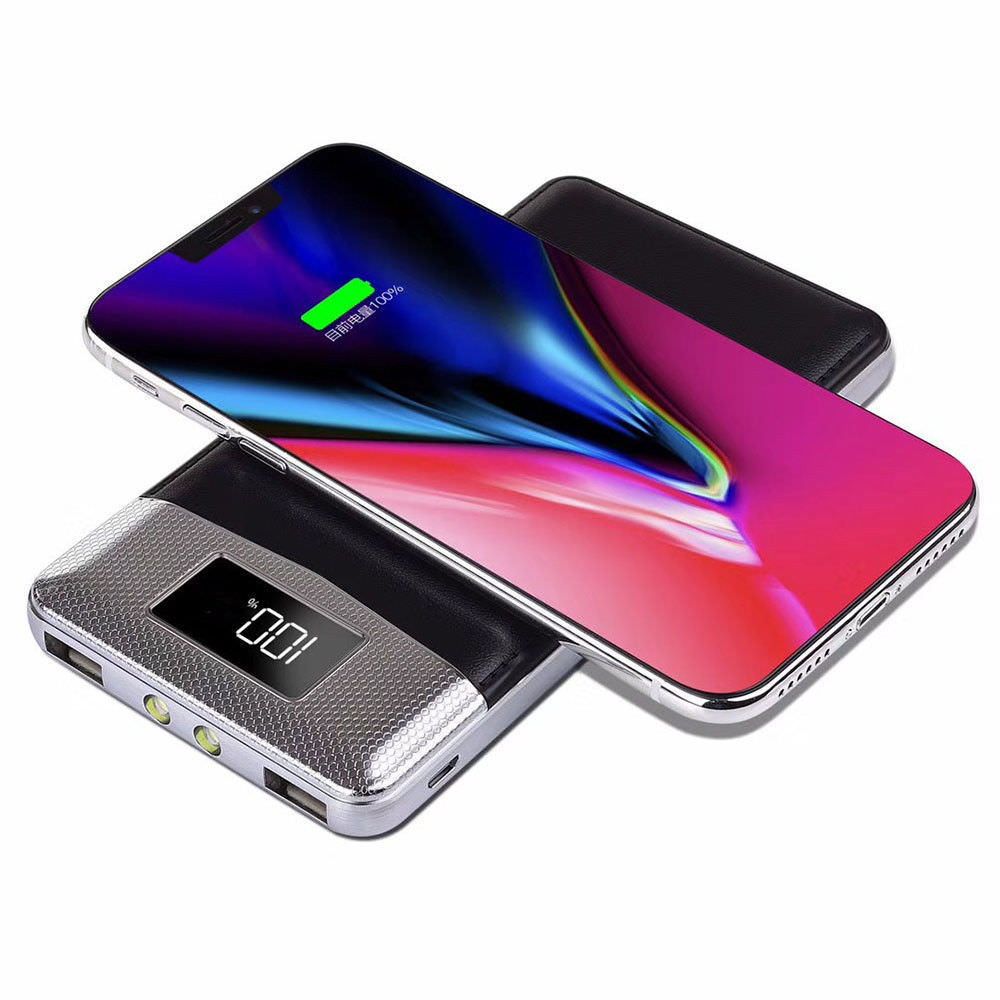 50000mAh LED Power Bank QI Wireless Charger 2A Dual USB PowerBank For iPhone X 8 Samsung S9 Battery Charger Wireless Charging50000mAh LED Power Bank QI Wireless Charger 2A Dual USB PowerBank For iPhone X 8 Samsung S9 Battery Charger Wireless Charging