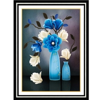 5D Diamond Painting Cross Stitch Flower 3D DIY Diamond Embroidery Diamond Mosaic Flower Needlework Crafts Christmas