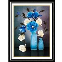 5D diamante pintura Cruz puntada flor 3D DIY bordado del diamante, mosaico del diamante, flor, costura, artesanía, navidad, decoración