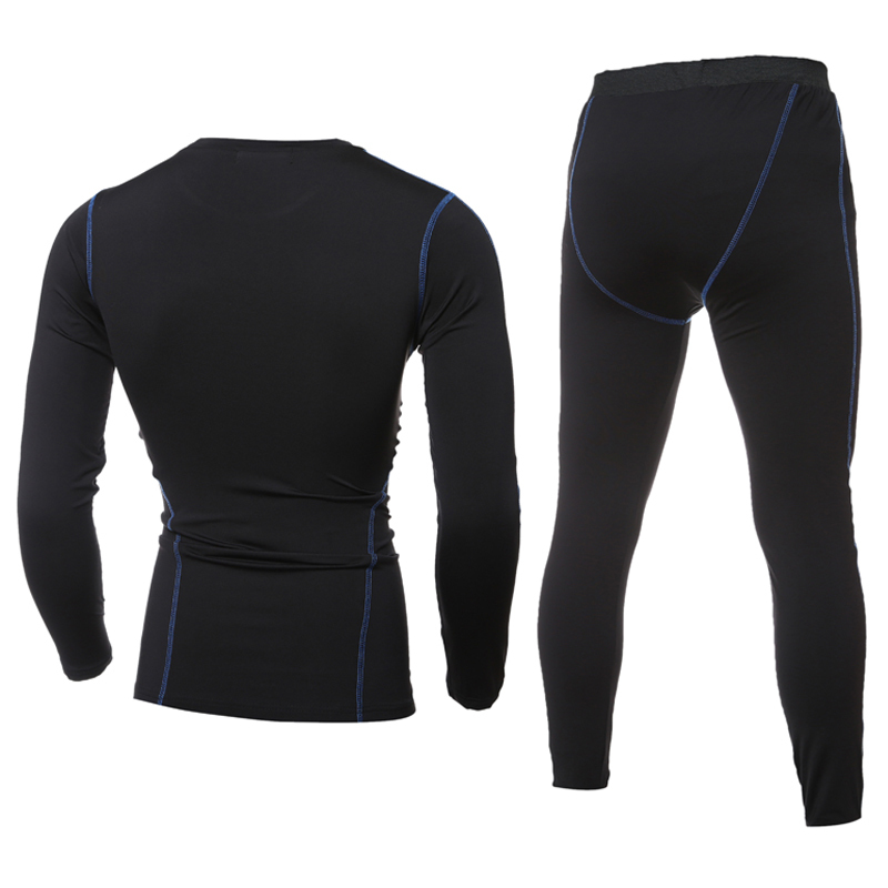 FDWERYNH Men Trainning Sets Running Shirts Sports Fitness Shirts Pants Bodybuilding Suit Quick Dry Compression Tights