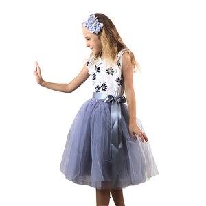 Image 2 - Рождественские фатиновые юбки для девочек, длинные юбки пачки принцессы с эластичным поясом, шифоновое детское бальное платье, одежда для девочек, детская одежда