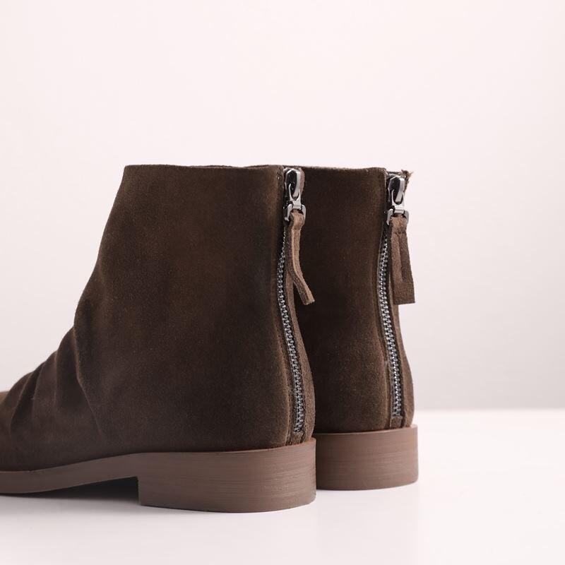 Talons Haute marron Noir Marque Femmes Mode Cuir Véritable Épais D'hiver Talon De Cheville Bottes Allbitefo Chaussures Moto AanzvwZx4q