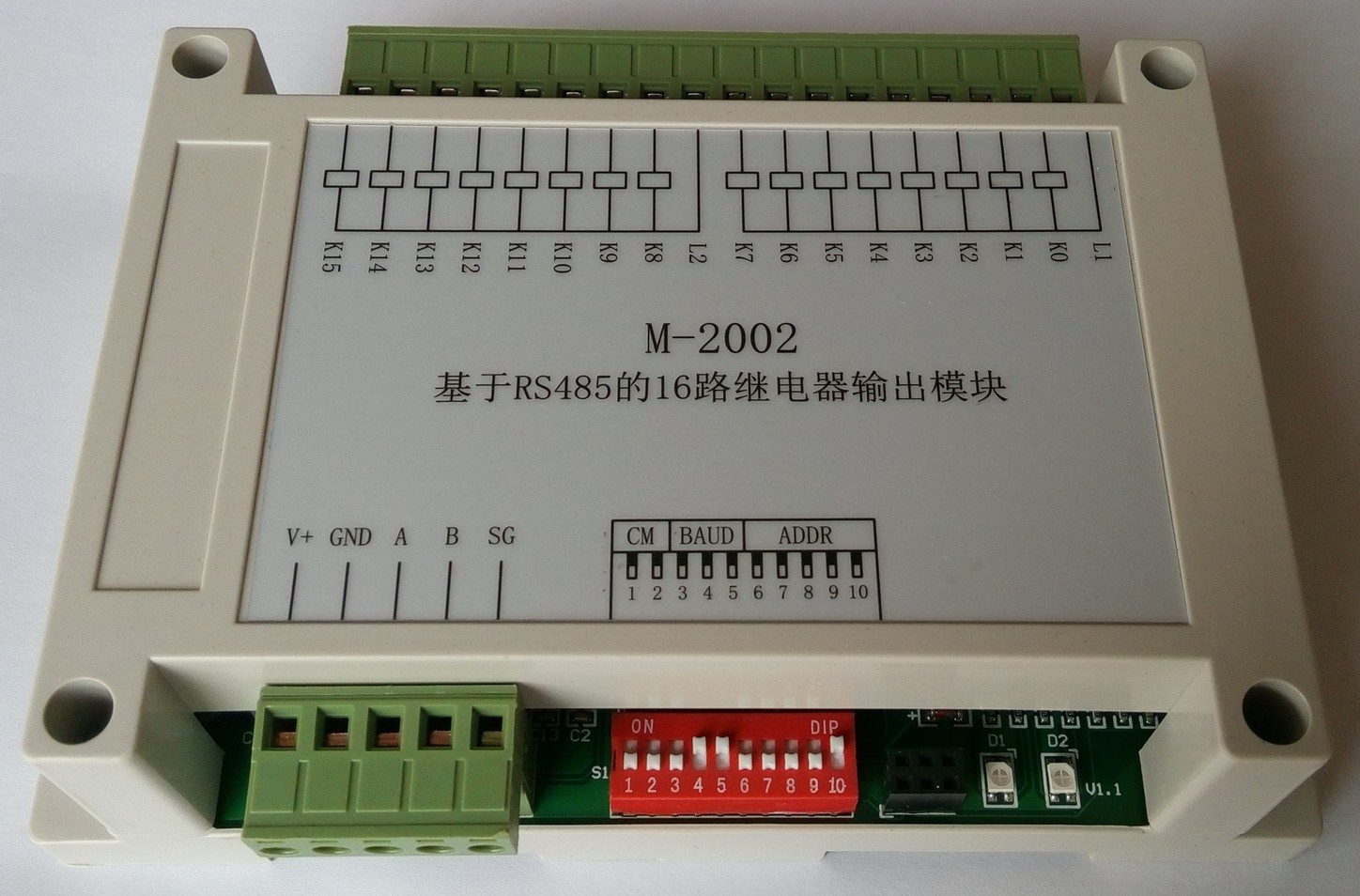 16 Road Relay Output DO Module RS485 Modbus Data Acquisition Communication Board Card PLC Extended IO16 Road Relay Output DO Module RS485 Modbus Data Acquisition Communication Board Card PLC Extended IO