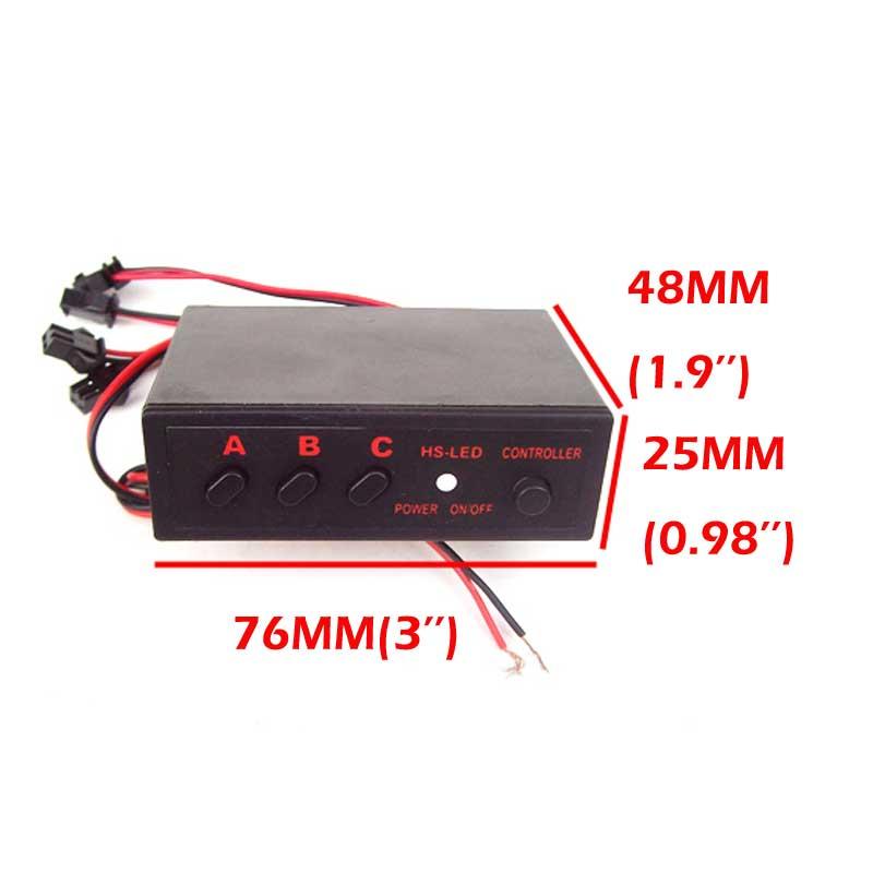 FUGSAME FREE SHIPPING LED Light Flasher Flash Strobe 4 Ways Controller Box