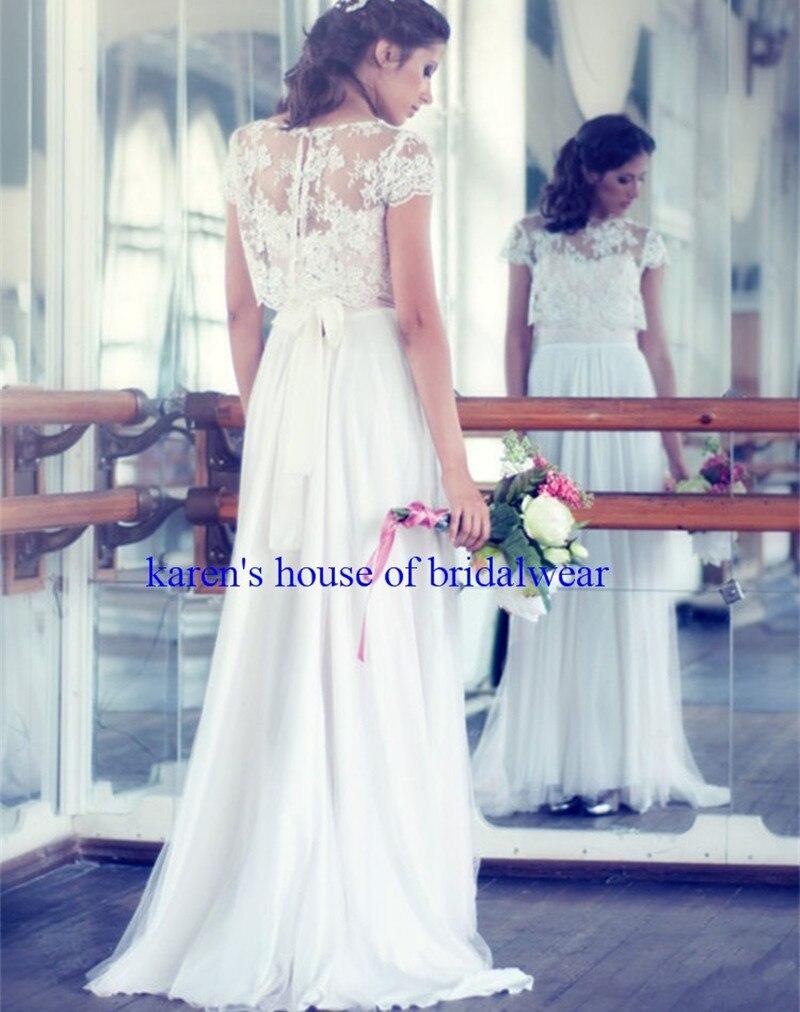 2015 elegant white lace bohemian wedding dresses with for Bohemian wedding dress for sale