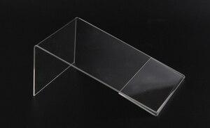 Image 5 - חדש 10 יח\חבילה באיכות גבוהה ברור 6x9cm L צורת אקריליק שולחן סימן מחיר תג תווית תצוגת נייר קידום כרטיס מחזיק מעמד
