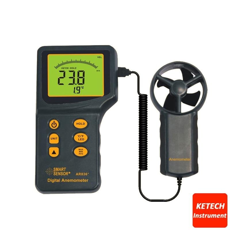 все цены на Air Flow Wind Speed Anemometer Temperature Tester AR836 онлайн