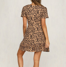 feitong Womens Dress  Leopard Print Mini Dress Ladies Sexy Wrap Clubwear Party Dress vestidos de fiesta #w1235