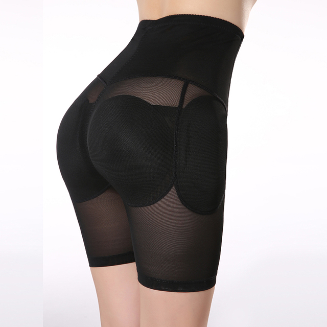 Plus Size S-XXL Black Padded Underwear Women's Hip Enhancer High Waisted Tummy Control Butt Lifter Panties Shapewear 4