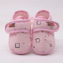 Newborn Baby Shoes toddler Baby Girl Boy Shoes first walkers Print Non-slip Soft Sole bottom Footwear Crib Shoes chaussure fille(China)